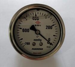 - Çap 63 Arka Çıkış Gliserinli Vakummetre