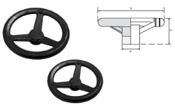LEVEL - EAV2 SERİSİ Aluminyum Enjeksiyon Makina Çarkları (Siyah Boyalı)