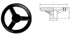 LEVEL - EDV SERİSİ Döküm Makina Çarkları (Siyah Boyalı)