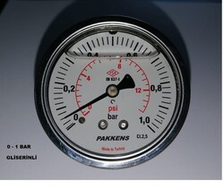 PAKKENS - Çap 100 Arka Çıkış Pano Tipi Gliserinli Manometre