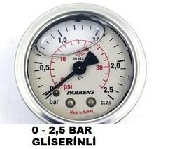 PAKKENS - ÇAP 50 ARKA ÇIKIŞ GLİSERİNLİ MANOMETRE
