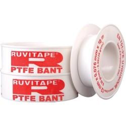 RUVITAPE - Ruvıtape Teflon Bant 12Mm X 0,076Mm X 10Mt